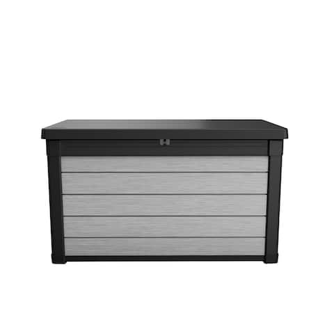 Denali 100 Gallon Resin Deck Box Shop Keter Denali Duotech