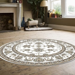 "Link to Plaza Oriental Area Rug - 5'3"" Round - 5'3"" Round Similar Items in Casual Rugs"