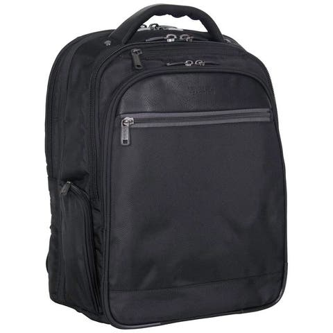 Kenneth Cole Reaction ProTec 1680D Polyester Dual Compartment Checkpoint Friendly 15.6in Laptop Business Backpack