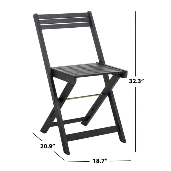 Safavieh Outdoor Living Arvin Table And 4 Chairs - Black