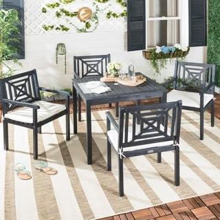 Safavieh Outdoor Living Del Mar 5 Pc Dining Set - Dark Slate Gray