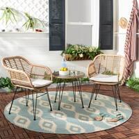 Safavieh Outdoor Living Alton 3 Piece Lounge Set - Brown / Beige