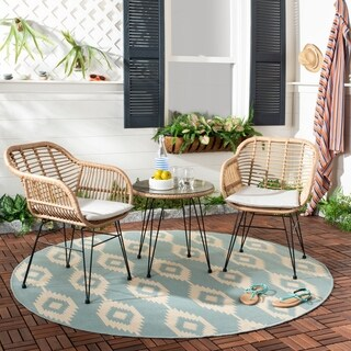 Safavieh Outdoor Living Alton 3 Piece Lounge Set - Brown / Beige