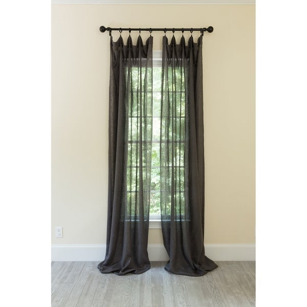 Classic Linen Rod Pocket Single Curtain Panel. Opens flyout.
