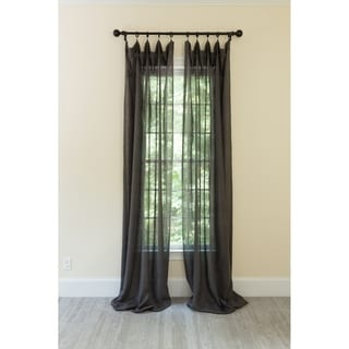 Classic Linen Rod Pocket Single Curtain Panel