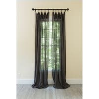 Classic Linen Rod Pocket Single Curtain Panel