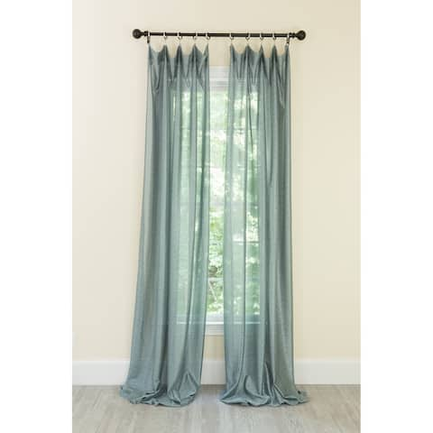 La Rosa Metallic Semi Sheer Rod Pocket Single Curtain Panel