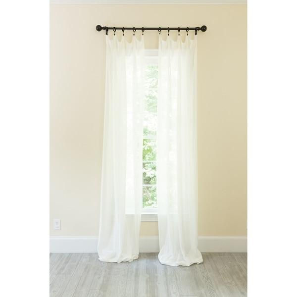 Shop La Rosa Metallic Semi Sheer Rod Pocket Single Curtain