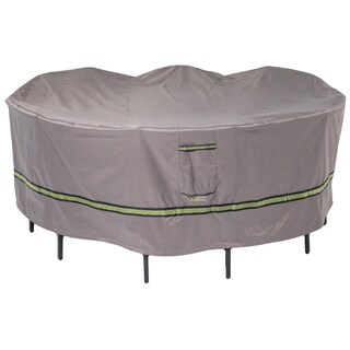 Duck Covers Soteria RainProof Round Patio Table with Chairs Cover
