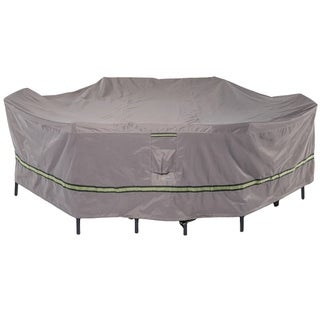Duck Covers Soteria RainProof Rectangular/Oval Patio Table with Chairs Cover