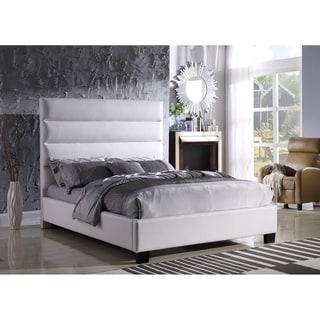 Best Master Furniture White Upholstered Platform Bed