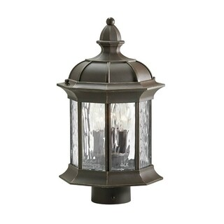 Traditional 1-light Olde Bronze Outdoor Post Mount