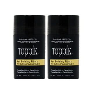 TOPPIK Hair Building Fibers Medium Blonde 0.42oz (Pack of 2)