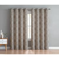 VCNY Home Brynn Damask Grommet Curtain Panel Pair