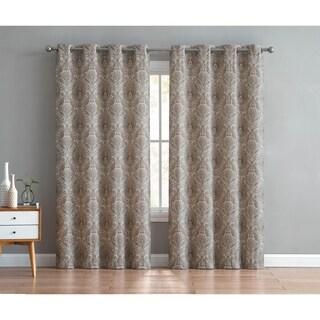 VCNY Home Brynn Damask Grommet Curtain Panel Pair