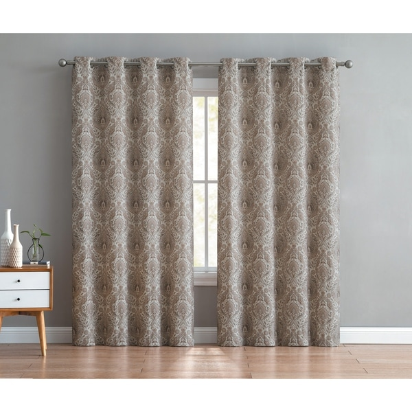 Shop Vcny Home Brynn Damask Grommet Curtain Panel Pair