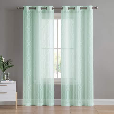 VCNY Home Irongate Sheer Grommet Curtain Panel