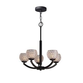Woodbridge Lighting Mirage Bronze Steel/Glass 5-light Chandelier