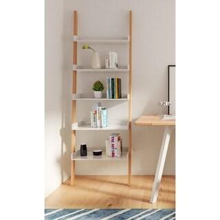 Universal Expert Remus Ladder Bookshelf, Modern Oak and White