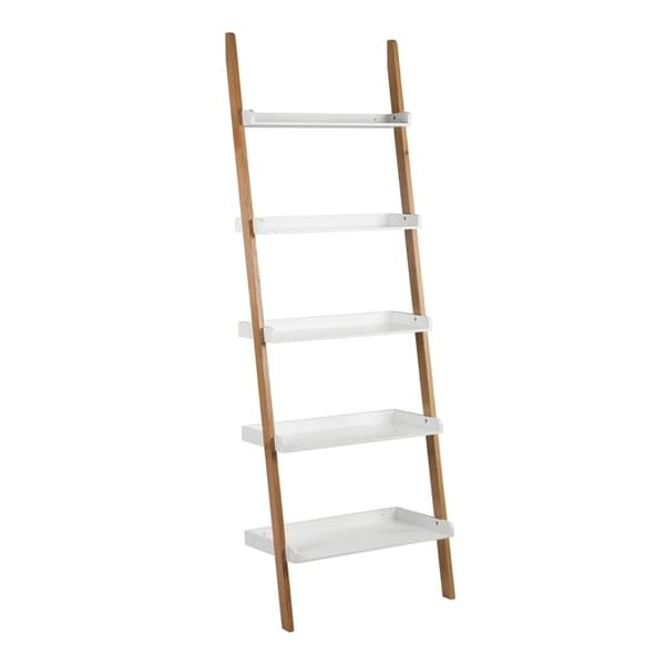 Universal Expert Remus Ladder Bookshelf Modern Oak And White