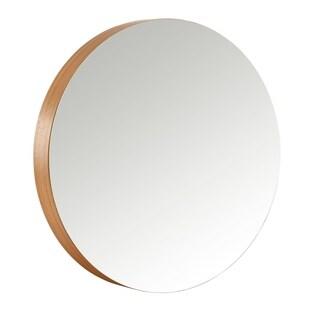 Universal Expert Remus Round Mirror, Modern Oak