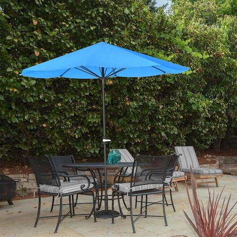 9ft Patio Umbrella Outdoor Shade with Easy Crank by Pure Garden, Base Not Included