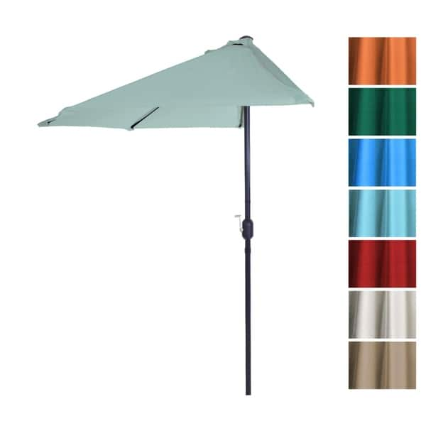 Half Round Patio Umbrella With
