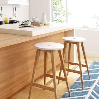 Universal Expert Abacus Barstool, Modern Oak and White