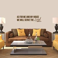 We Will Serve The Lord Wall Decal - MEDIUM