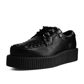T.U.K. Shoes Black Faux Leather Anarchic Creeper