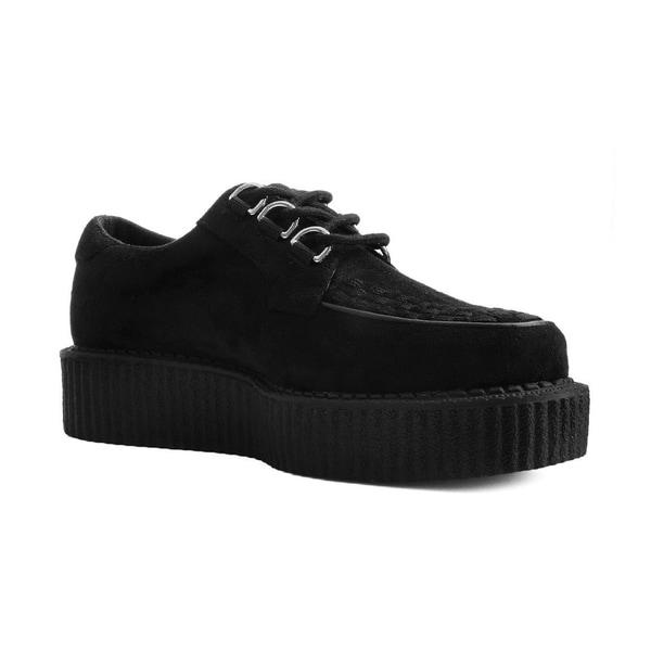 Shop T.U.K. Shoes Black Faux Suede