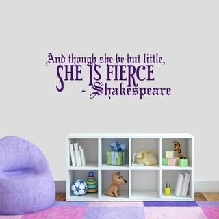 She Is Fierce Wall Decal - MEDIUM