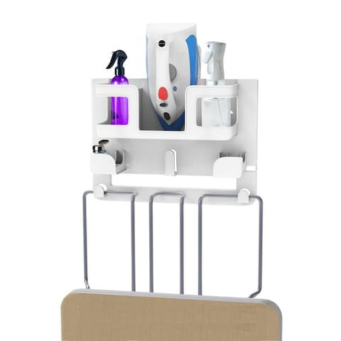 Ironing Board Organizer-Wall Mount Laundry Room Supplies Holder Lavish Home - 18 x 4 x 10.5