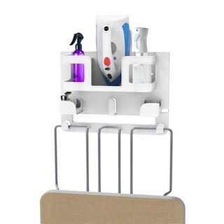 Ironing Board Organizer-Wall Mount Laundry Room Supplies Holder Lavish Home