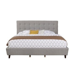 Linen Panel Grey Queen Full Bed Set