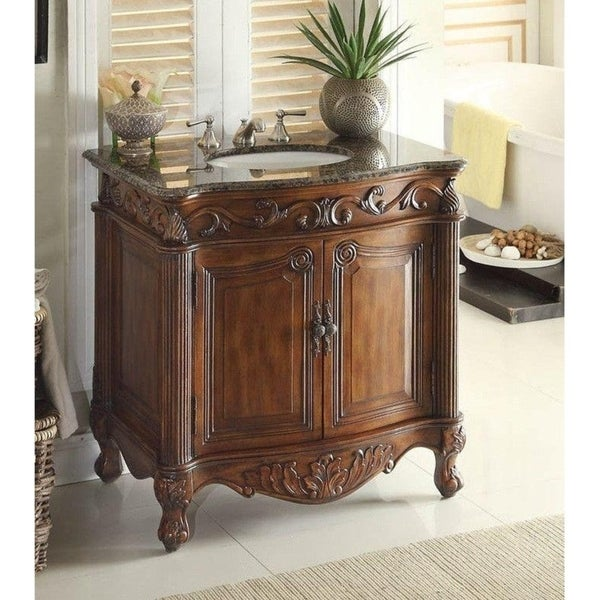 "32"" Benton Collection Fiesta Antique Style Bathroom Vanity"