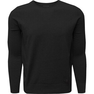Men's soft touch solid crew neck sweater pullover