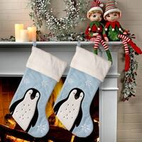 "20"" Felt Penguin Stocking 2 Piece Set"