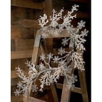 "60"" Iced Snowflake Garland"