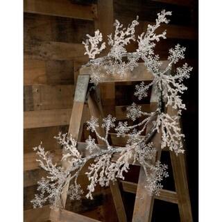 "60"" Iced Snowflake Garland"