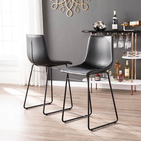 Harper Blvd Mondiste Faux Leather Pair of Counter Stools