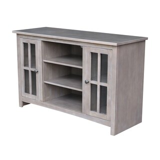 """Entertainment/TV Stand with 2 Doors - 48"""" W - Washed Gray Taupe"""