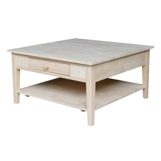 Spencer Square Coffee Table - Unfinished