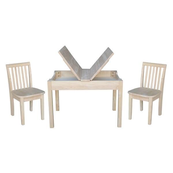 Sensational Shop Kids Table With Lift Up Top And 2 Mission Juvenile Dailytribune Chair Design For Home Dailytribuneorg