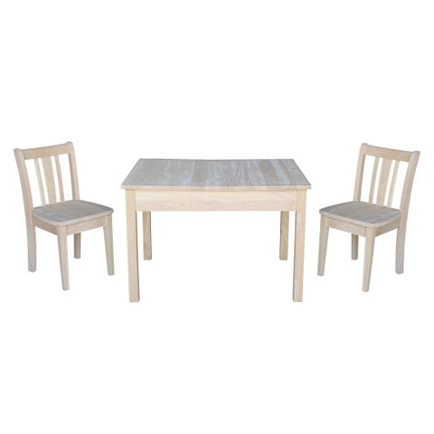 Kids Table with Lift Up Top and 2 San Remo Juvenile Chairs - 3 Piece Set - N/A