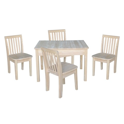 Kids Table with Lift Up Top and 4 Mission Juvenile Chairs - 5 Piece Set - N/A
