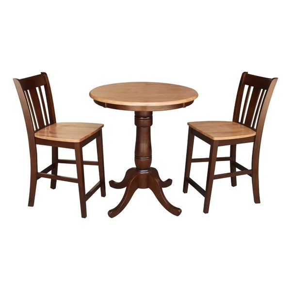 Shop 30 Quot Round Counter Height Table With 2 San Remo Stools