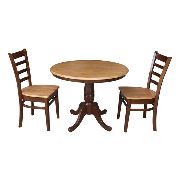 Shop 36 Quot Round Pedestal Dining Table With 2 Emily Chairs