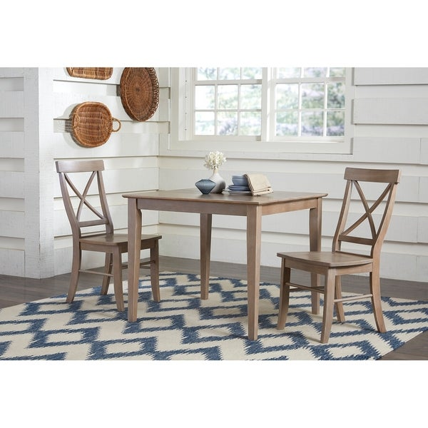 """Groveland 3pc Square Dining Table With 2 Chairs: Shop 36"""" Square Dining Table With 2 X-Back Side Chairs"""