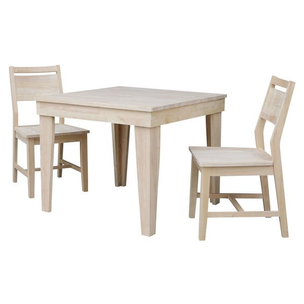 Magnificent Shop Aspen Solid Wood Dining Table With 2 Aspen Panel Chairs Pdpeps Interior Chair Design Pdpepsorg